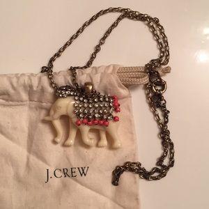 J.Crew Elephant Necklace